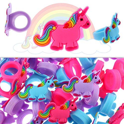 12 x eenhoorn ring vingerring bont kindersieraden paard cadeautje