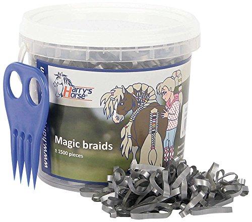 Harry's Horse 36000203-20 Magic Braids - Cubo con Asas para el Pelo, Color Plateado