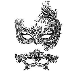 Swan Masquerade Mask With Rhinestone Venetian Party