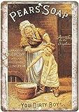 Radiancy Inc Birnen Seife Beauty Cleanser Eisen Malerei Blechschild Wand Vintage dekoratives Poster...