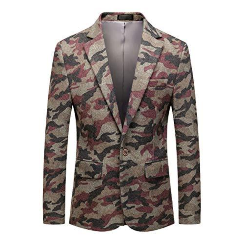Vovotrade Camouflage Sakko Blazer Vrije tijd Slim Fit Modern heren winterjas sweatjas gewatteerde thermische jas jas Parkajas Het lichte