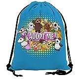 Pimalico Adopt Me R-ob-lox Drawstring Bag Lightweight Sackpack for Women Men Sports Backpack Storage Goodie Cinch Bag