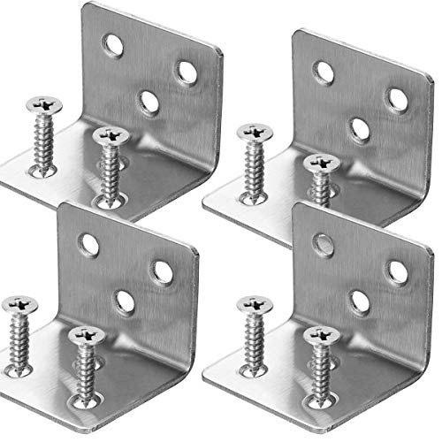 Abrazadera de esquina de acero inoxidable, 6 orificios de unión de acero en ángulo recto, 20 unidades