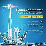 Nisels Spazzolino sonico Sonic Spazzolino elettrico Sonic Spazzola Sano bianco, testine: 3 pz, 3 colori