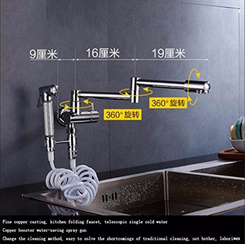 Gyps Faucet Waschtisch-Einhebelmischer Waschtischarmatur BadarmaturDie Wand montiert Küche Teller Waschbecken mit kaltem Wasser Hahn einziehbaren schwenken Falten Mops Pool in die Wand Drehen Wasse