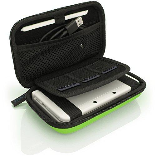 iGadgitz U3608 - Eva Hart Schutzhülle Kompatibel mit Nintendo 3DS (Nicht FÜR 3DS XL) - Grün