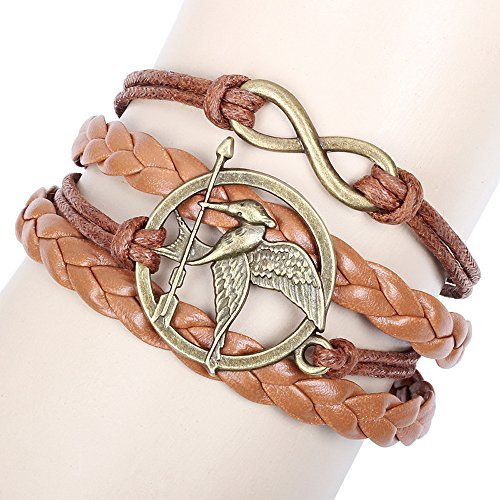 Winter 's Secret Pfeil Vogel Multi Strand braun Lucky Acht Leder Wave Armband