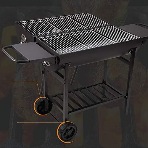51PZCtbH15L - DNNAL Großer Kohlegrill, Doppelseitiger Kochen im Freien Grill für Outdoor-Camping-Patio Hotel Villa Commercial (mit Grill-Zubehör)