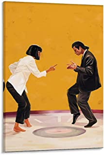 PULP FICTION 1994 YEAR AMERICAN BLACK COMEDY  Canvas Wall PF13 UNFRAMED-ROLLED
