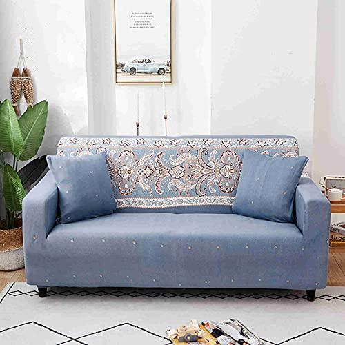 DWSM - Juego de funda elástica para sofá 1 2 3 4 plazas, extensible, funda de protección extensible con reposabrazos (B,2 plazas: 145 – 185 cm)