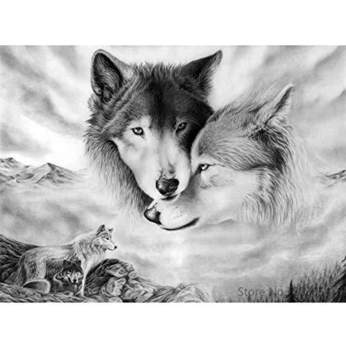WACYDSD Puzzle 1000 Teile 3D Puzzle DIY Tiere Wolf Moderne Bild Home Decor Für Wohnzimmer