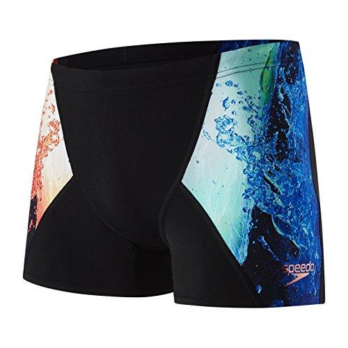 Speedo Herren Energy Blast Placement Digital V Aqua Shorts, Herren, Aqua Shorts, 5053744323060, Schwarz/Hummer/Violett, 4
