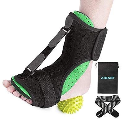 AiBast Plantar Fasciitis Night Splint, 2020 New Upgraded Green Multi Adjustable Ankle Brace Foot Drop Orthotic Brace for Plantar Fasciitis, Arch Foot Pain, Achilles Tendonitis Support for Women, Men
