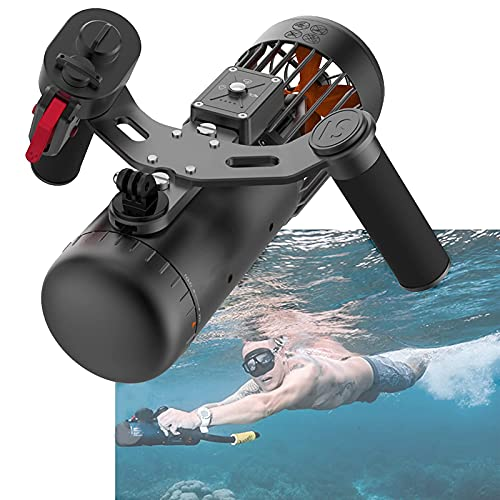 Daily Accessories Underwater Scooter With Action Camera Mount Sea Scooter 40M Safety Waterproof 3 Level Speed Rechargeable Electric Surfboard for Shallow Dives Snorkeling Adventures And Chasing Fis