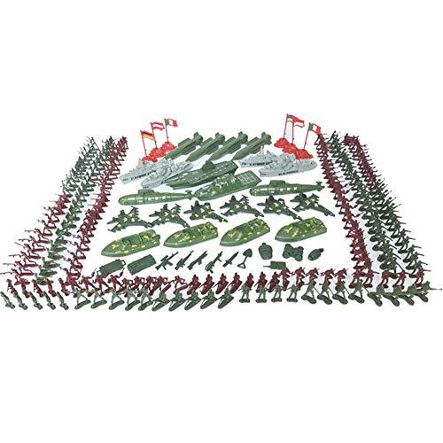 337 Stücke Simulation Armee Modell Set, Mini Soldaten Männer Action-figuren Kunststoff Sand Tisch Modell Krieg Szene Spielzeug, für Kinder Kleinkinder Jungen Geschenke