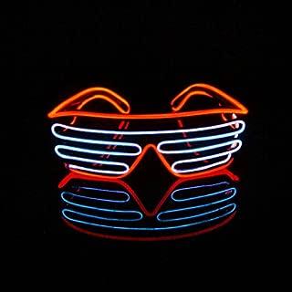 Celeste LERWAY Gafas para Fiestas EL Ne/ón Wire LED Partido Juguetes Carnaval Navidad A/ño Nuevo Club Bar Disco Disfraz Cumplea/ños Decoraci/ón