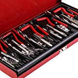 Candybush 131 unids/Set Durable Herramienta de reparación de roscas Helicoil Rethread Repair Kit Garage Workshop Tool Herramienta de reparación de Retroceso Profesional