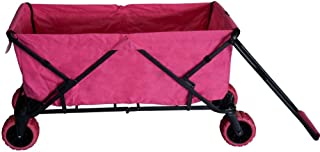 Impact Canopy Folding Collapsible Utility Wagon, Extra-Large Wagon with All-Terrain Wheels, Pink