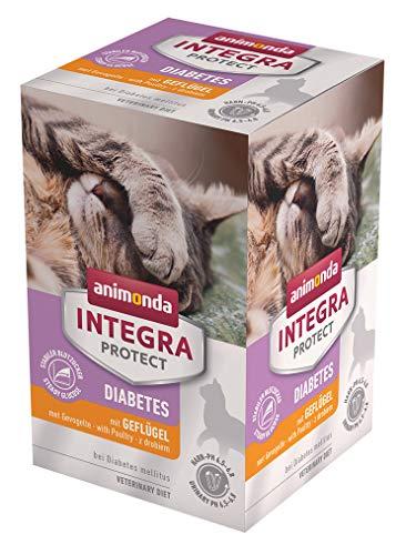 animonda Integra Protect Diabetes Katze, Diät Katzenfutter, Nassfutter bei Diabetes mellitus, mit Geflügel, 6 x 100 g