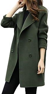 FISISZ Abbigliamento Invernale Cappotto di Lana Lungo Caldo Cappotto da Donna Cappotto di Lana Autunnale Coreano Moda Femminile Giacca Capispalla Elegante in Misto Lana
