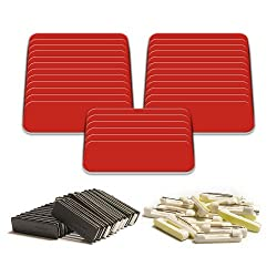 """Amazon.com : Blank Name Tag with Pin Fasteners 25pk Kit Includes Magnet   Plastic Name Tags with 1"""" x 3""""Rounded Finished Corners - (Crimson and White) : Identification Badges : Office Products"""