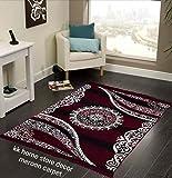 Kk Home Store Decor Royal Look Carpet -   60' inch x 84' inch   150 cm x 210 cm   5 Feet x 7 Feet  - Maroon for Living Room Bad Room Runner (5 x 7, Maroon)