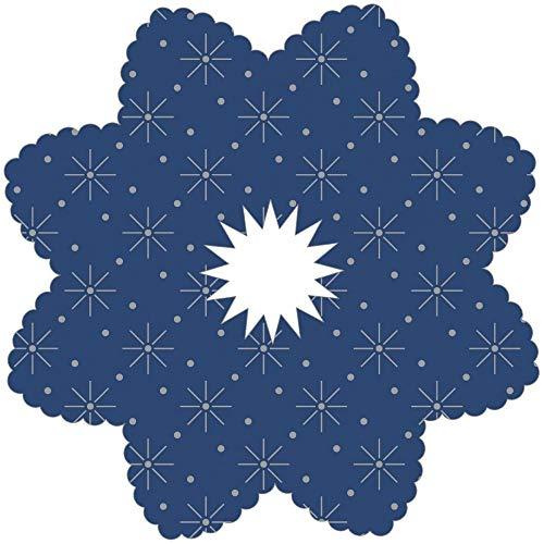 Tropfenringe aus Tissue in Blau, Ø100mm, Innenloch 22mm, 250 Stück - Mank
