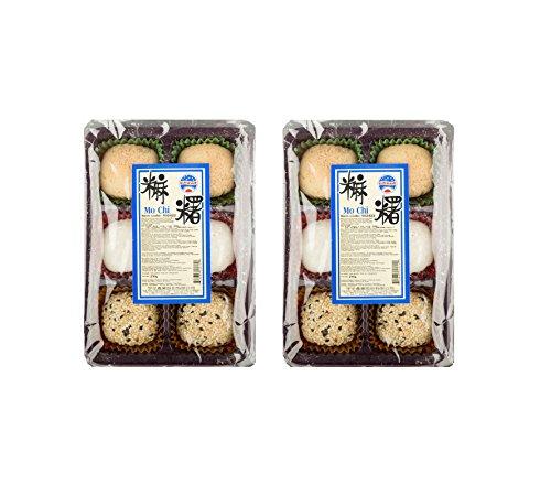 2 x 180g Mochi versch. Sorten - 12 Reiskuchen Sesam Füllung Erdnuss Mochis Pamai Pai®