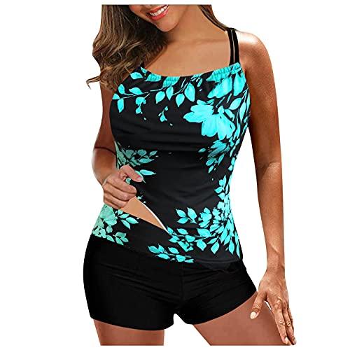 YAOBF Vermisst Tankini Damen XL Badeanzüge Bikini Mädchen Einteilige BadeanzüGe Mit Balconette für Frauen In ÜBergrößEn OMG Bikini (Blau 1,L)