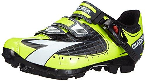 Diadora X TRIVEX PLUS - Zapatillas de ciclismo, unisex, color gelb (schwarz/gelb fluo/weiß 3444), talla 43