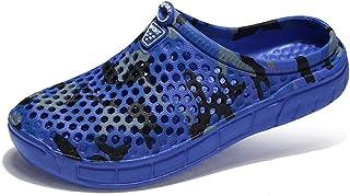 FDSVCSXV Summer Garden Clogs Unisex Flip Flops Quick-Dry Mesh Water Shoes Non-Slip Footwear Beach Sandals Hole Slippers Wo...