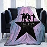H-amilton Musical Micro Fleece Bed Flannel Blanket for Luxury Sofa Plush Anti-Pilling essential Blanket Super Cozy and Comfy Home Bedding Living Room (Hamilton-Musical-Blanket) (50'x40, hamilton_#010)