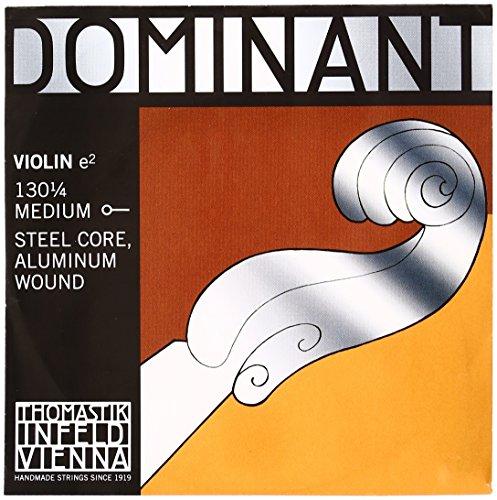 Dominant Strings 130 - Corda del Mi per violino 1/4, rivestita in alluminio