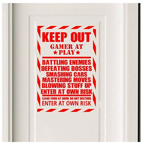 Gaming Zitat Tür Wandkunst Aufkleber Aufkleber Jungen Wohnkultur Abnehmbare Wand Modern Living Aufkleber 58X40Cm