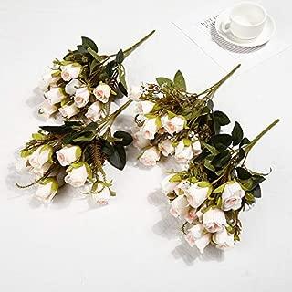 Ronshin Fashion Romantic Artificial Roses Flower Bouquet Home Decor Wedding Props