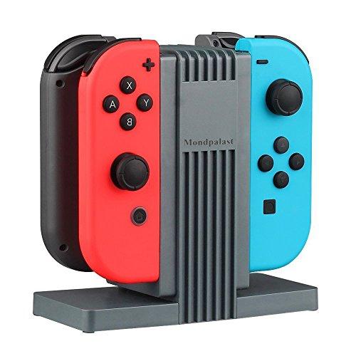 MPTECK @ Multi estación de carga Dispositivo de carga Switch base Soporte Stand para Nintendo Switch Joycon NINTENDO SWITCH Joy Con nintendo switch NS controlador - Carga 4 Joy-Con Controladores