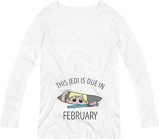 Jedi Peek A Boo Baby Due in February: Maternity Long Sleeve Tee