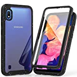 Samsung Galaxy A10 Case, (Not fit A10e) Shockproof Clear Multicolor Series Bumper Built-in Screen Protector Cover for Samsung Galaxy A10-Black