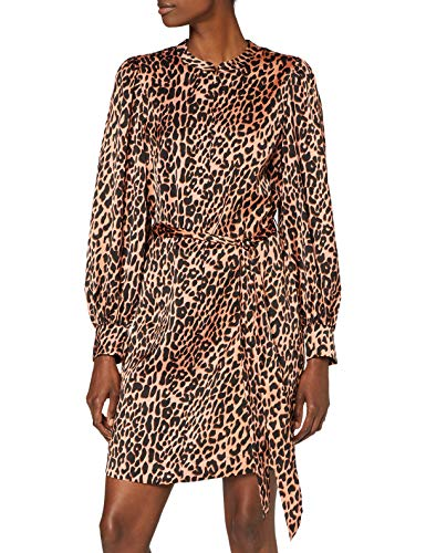 Scotch & Soda Printed Dress with Waist Tie And Voluminous Sleeve Vestito Casual, Combo F 0222, M...