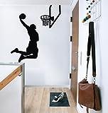 87x100cm Saltando giocatore di basket che vola Jordan NBA Kobe stelle graffti decalcomanie arte slam dunk ragazzo da parete per bambini trasporto Decalcomanie Gli Adesivi Muralisticker