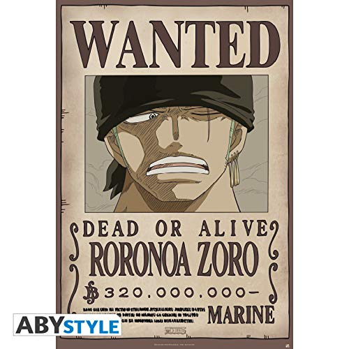 "ABYstyle - ONE PIECE - Poster ""Wanted Zoro new"" (91.5x61)"