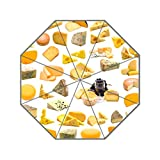 Eureya Love Queso Negocio portátil de Viaje Paraguas Plegable Resistente al Viento Sol Lluvia Umbrella-Perfect Regalo