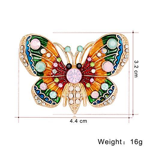 ERDING Brooch/Accessoires/Kleurrijke Emaille Vlinder Broche Metaal Kristal Insect Pin Goudkleurige Broche voor Sjaal Jas Accessoires voor Vrouwen Banket Sieraden