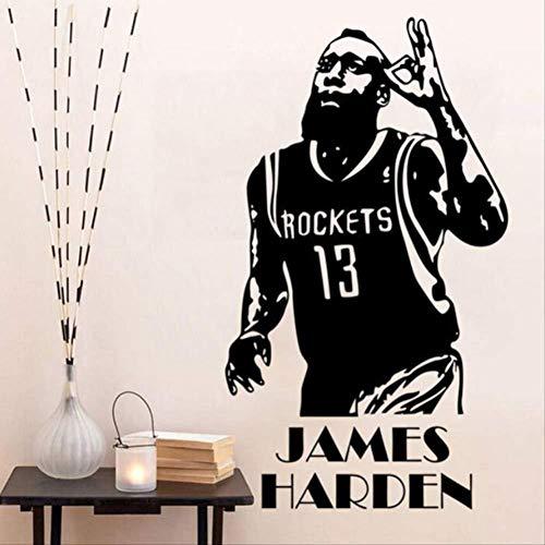 3D Pegatinas De Pared-Aplique Estrella De Baloncesto James Harden ...