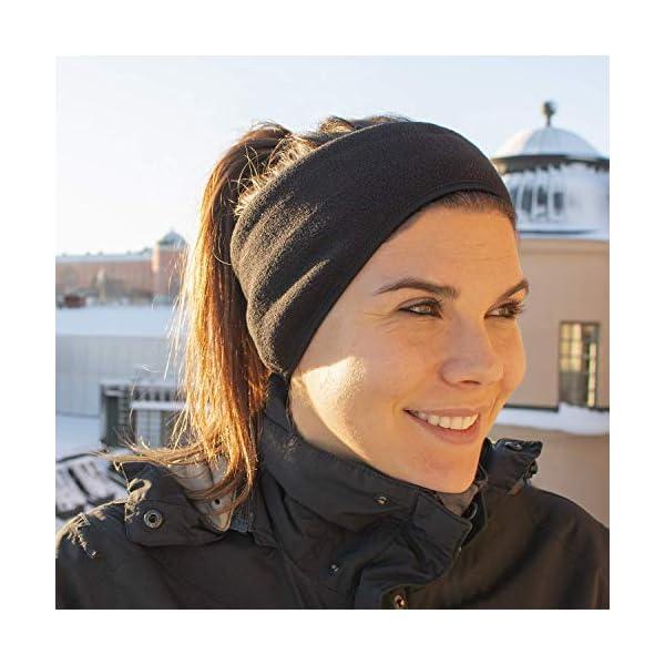 2-3 Pack Ear Warmers Winter Earmuffs Fleece Headband for Men Women-Cold Weather Ear Muffs Workout Running Earmuffs