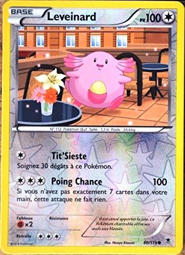 carte Pokémon 80/119 Leveinard 100 PV - REVERSE XY04 Vigueur spectrale NEUF FR