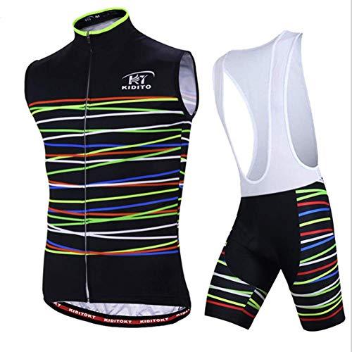 LRZ Zomer Ademend Fietsen Jersey en 3D Siliconen Gewatteerde Shorts Set Outfit Mountainbike Korte mouw T-Shirt Elastische Jas Vocht Wicking voor Mannen Vrouwen