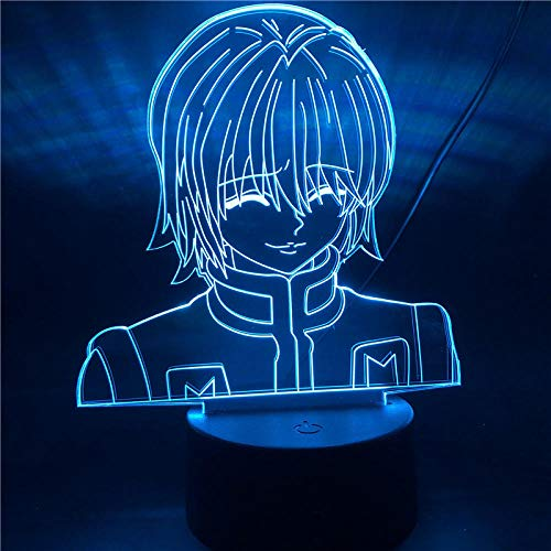 Lámpara de ilusión 3D Hunter X Hunter figura Anime luz de noche LED para decoración de dormitorio infantil iluminación lámpara de mesa de regalo para niños With remote control_HX-0913