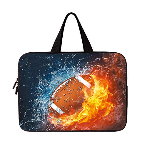 AMARY Universal 7~8 inch Tablet Portable Neoprene Zipper Carrying Sleeve Case Bag (Football)