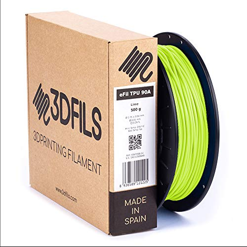 3DFILS Flexible 3D Printing Filament EFil TPU 90A, 2.85 mm / 500 g, lime, 1